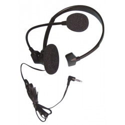 1 headphone headset microphone wired for telephone pabx tel20c