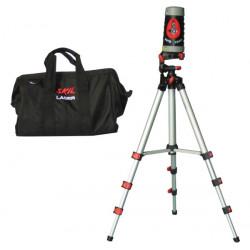 Niveau laser de chantier construction type 2 trepied support sac transport batiment ouskil0515ac