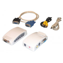 Convertisseur signal vga vers video vasmon4 s video rgb usb ntsc ntsc eiaj pal palm pal n secam