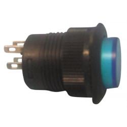 Bouton poussoir electrique impulsionnel avec lumiere led bleue (250v 1.5a) r1394b/b velleman
