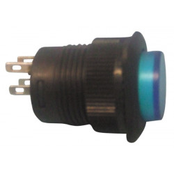 Drucktaster aus (ein) blau beleuchtete led( 250v 1.5a) r1394b b velleman