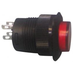 Drucktaster aus (ein) rot beleuchtete led