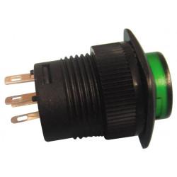 Drucktaster aus (ein) grun beleuchtete led
