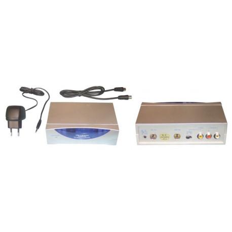 Modulatore rf trasmettitore convertitore audio video registratore videocamera dvd televisione camrfm2