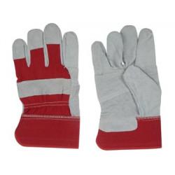 Gant de travail cuir rouge swg03 protection bricolage jardinage securite main