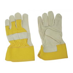 Leather work gloves xl yellow outdoor work hand protection