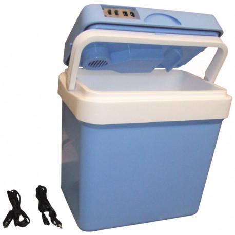 glaciere electrique 24l 12v 220v refrigerateur portable voiture camping frigo froid chaud. Black Bedroom Furniture Sets. Home Design Ideas