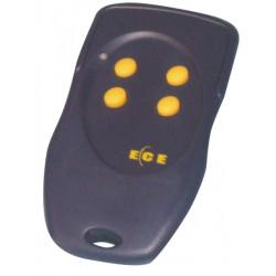 Telecommande miniature couleur bleu 3 canaux 50/200m 433mhz 1 bouton programation