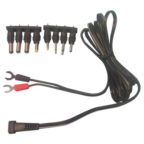 Super Power Cord With 8 Detachable Dc Plug And Fork Connections Eclats Wiring Database Wedabyuccorg