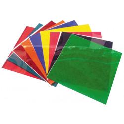 Feuilles gelatines filtre 10 couleurs differentes pour par64 250x250mm