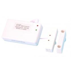 Detecteur ouverture magnetique radio hf contact sans fil 20/40m 300mhz pour alarme sans fil 980ca