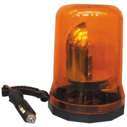 Beacon elettrico 12v 25w magnetico rotante faro luce gialla arancione 12vcc modello grande