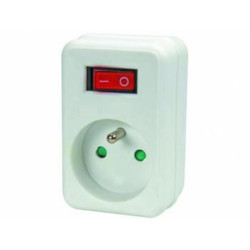 Net power plug with switch 1 plug pinearth