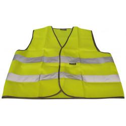 Chaleco reflectante tamano l poliester amarillo chalecos proteccion civil mejoramiento visibilidad