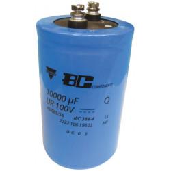 Condensador 10 000 micro faradio 100v cdc106100v10kmf