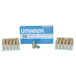 Caja de 50 cartuchos 380 9mm umarex a blanco para revolver arma de defensa seguridad personal caja cartuchos seguridad