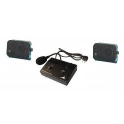 Electronic amplifier pack pa mono 10w +microphone micro public address + loudspeakers (2 items)