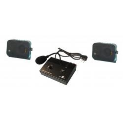Pack amplificador electrónico pa mono 10w + micrófono micro público adress + par alto hablador