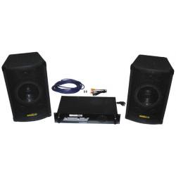 Pack sonorizacion completo basico 2x100w bocinas acusticas sonido