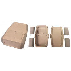Caja retex serie33 145x90x35mm caja cojea plastico enjaulado transparente proteccion material