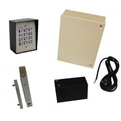 Pack controle acces autonome clavier etanche ip64 a code ventouse electrique porte bureau maison etc