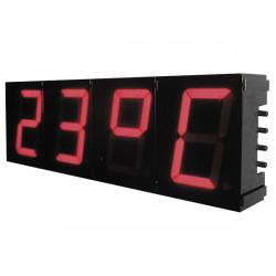 Kit para armar reloj digital anuncio gran formato hora temperatura k8089 velleman