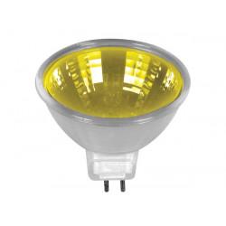 Bombilla halogena, 20w 12v, color amarillo, mr16