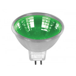 Halogen lamp 20w 12v, green, mr16