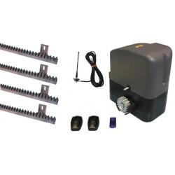 Automatismo completo per cancello scorrevole motore 400kg 12v speed telecomando 433mhz slidekit02