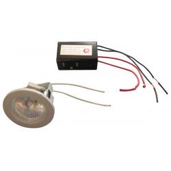 Luce da incasso a bassa tensione regolabile mr16 lampada dicroica + + d50v trasformatore 220 12v