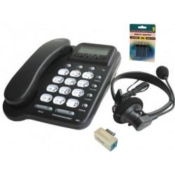 Telefono centralino cablato ascolto a mani libere amplifica 20 no memoria amplificatore per cuffie
