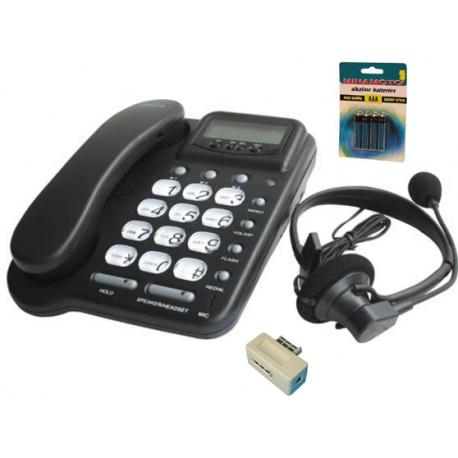 Telefono alambrico con alta voz manos libres 20 no casco amplificador memoria pabx pabx pabx pabx