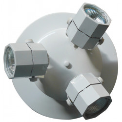 Light low voltage light support, 220/12vac 3 spotlights and bulbs and transformers integrated