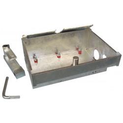 Caisse de fondation zinguee pour moteur enterre me12 protection automatismes moteur encastre