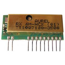 Modulo receptor radio hf aurel 4 canales hcs301 roling codifica alta sensibilidad 433,92mhz hfrx4m