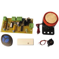 Mini centrale alarme pour detection de choc avec telecommande et sirene