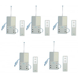 5 interruptor electrico radio a distancia 1 canal 10 30m 220vca iluminacion domotica alarma sono enchufe