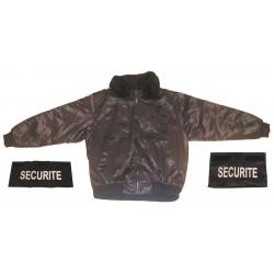 Pack 1 blouson garde de securite taille xl 1 bande securite poitrine 1 dossard securite
