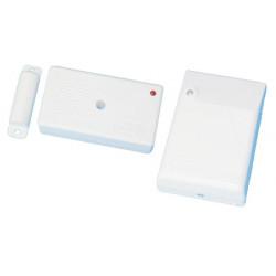Kit contatto senza fili detettore (1 r1co + 1 ricevitore radio r1) kit allarme senza fili allarme detettore