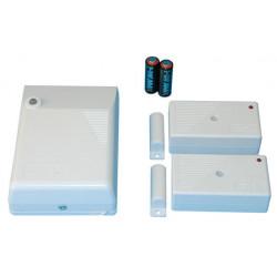Kit contatto senza fili detettore (2 r1co + 1 ricevitore radio r1) kit allarme senza fili allarme detettore