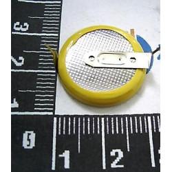 Lithium batterie 3.0v 230mah mit klemme zum schweissen batterie cr2032lf mit versorgungsknopf