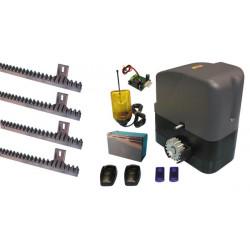 Automatisme prro slidekit02 pour portail coulissant moteur 400kg 12v speed telecommande 433mhz