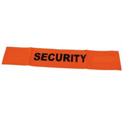 Brazalete anaranjado fluo security velcro seguridad vial alta visibilidad proteccion brazo