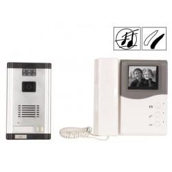 Systeme interphone video n/b a encastrer 2 fils portier villa maison camset15 securite surveillance