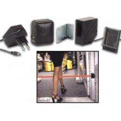 Mini protezione del sensore ir fotoelettrico 7m + altoparlanti + adattatore 220v/9v pem7d