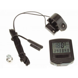 Compteur ordinateur bicyclette 15 fonctions horloge bc15s alimentation solaire velo velomoteur