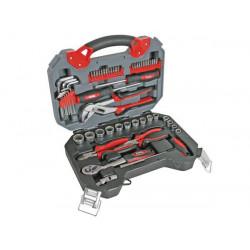 Jeu d outils 56 pcs hsetpro2chrome vanadium pince multiprise embouts tournevis clef a cliquet allen