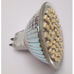 Smd led lamp 12v 3w mr16 x60 warm white low energy lighting gu5.3 ev610mr