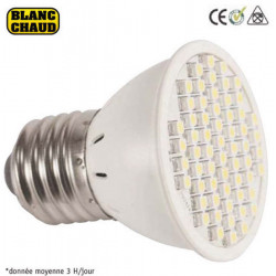 Smd led lamp 220v e27 x60 3w warm white low energy lighting elev612jd