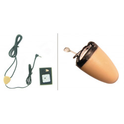 Mini audifono auricular audio sins cable oreja + receptor sy 20 audio discreto espionaje